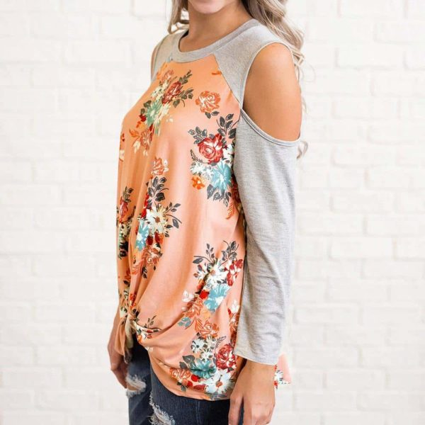 New Beauty Fashion Floral Splicing Blouse 3