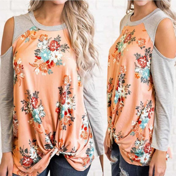 New Beauty Fashion Floral Splicing Blouse 4