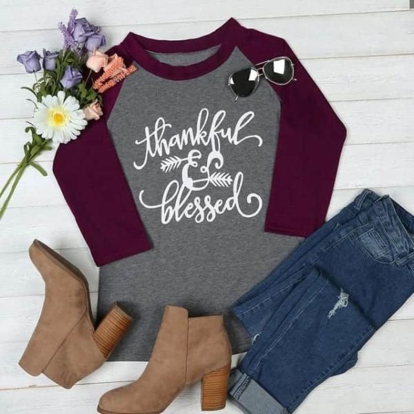 Thankful And Blessed T-Shirt 4