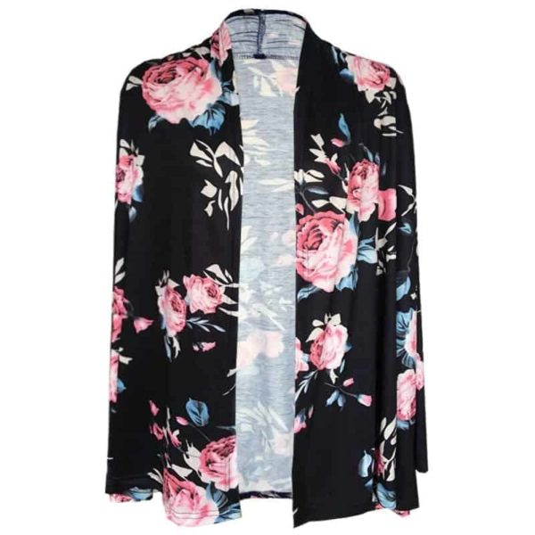 Long Sleeve Floral Printed Cardigan Casual 5