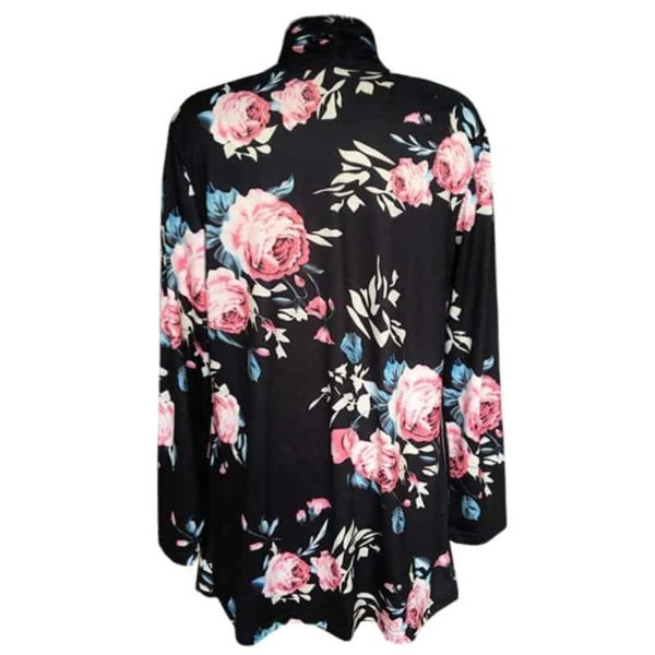 Long Sleeve Floral Printed Cardigan Casual 6