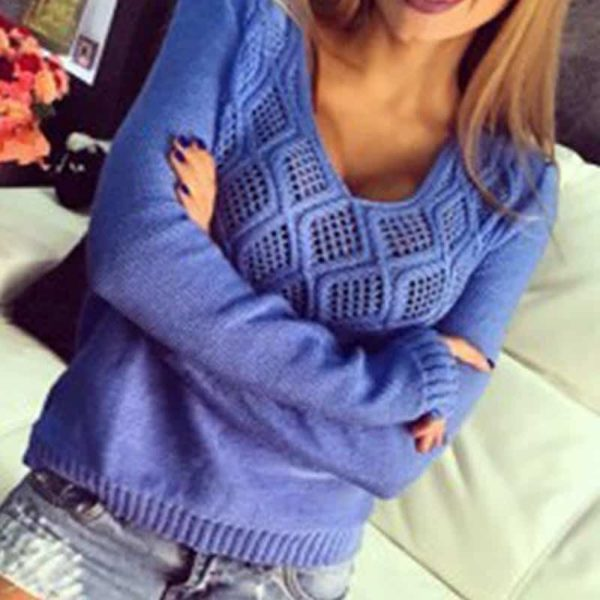 Fashion Women Sweaters Pullovers Sleeve 2