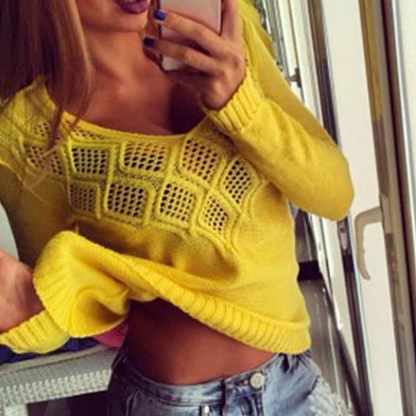Fashion Women Sweaters Pullovers Sleeve 6