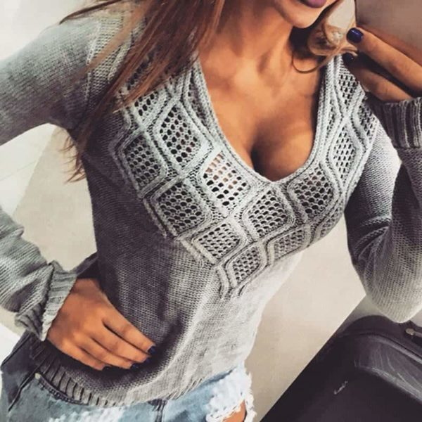 Fashion Women Sweaters Pullovers Sleeve 1