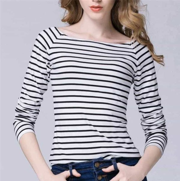 Black and White Striped Shirt Outfit for Women