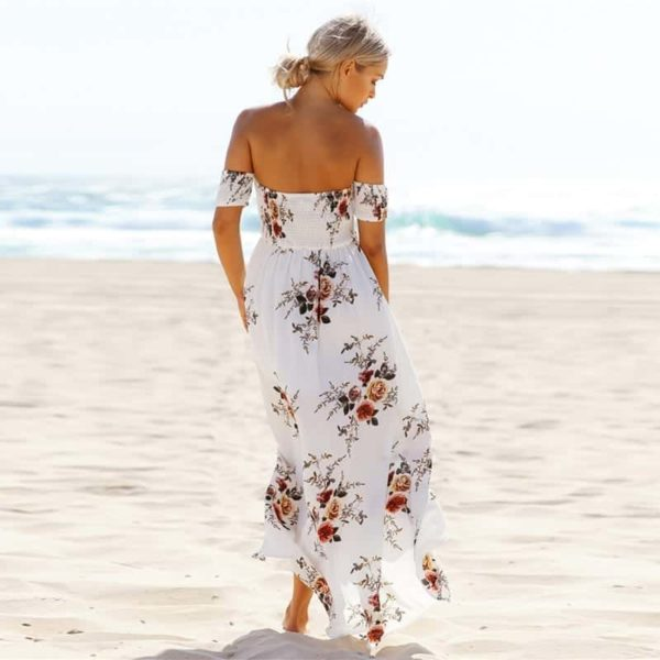 Boho Style Off Shoulder Dress 3