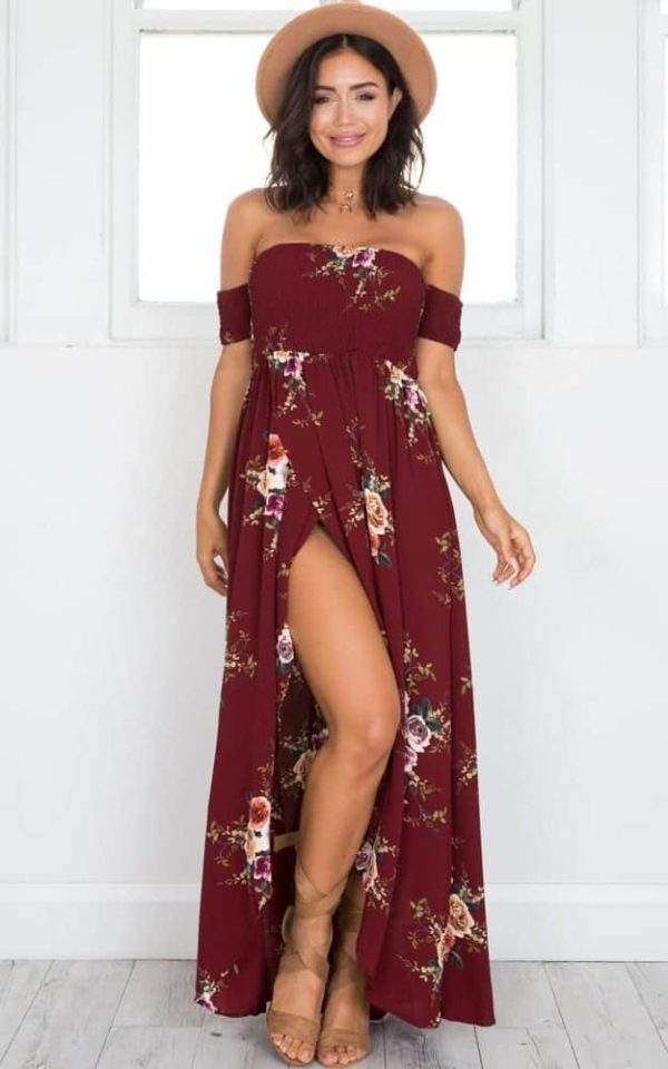 Boho Style Off Shoulder Dress 4