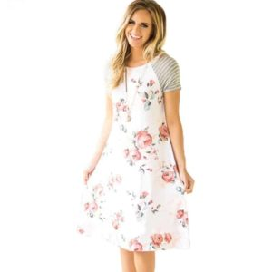 Fashion Floral Printed Loose Women Dress
