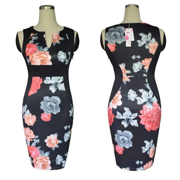New Floral Women Patchwork Dress 1