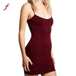 Vintage Strap Bodycon Women's Dress