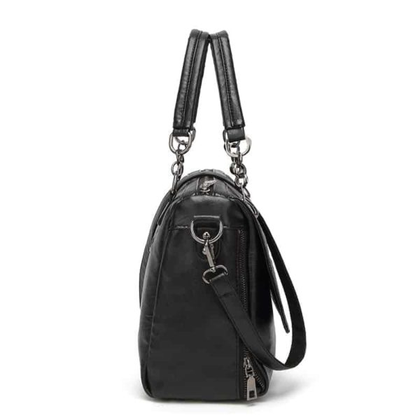 New Vintage Leather Chains Handbags for Women 5