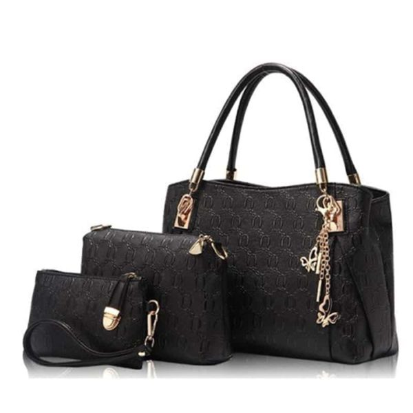 Casual Handbag 3 Pcs Set Leather 1