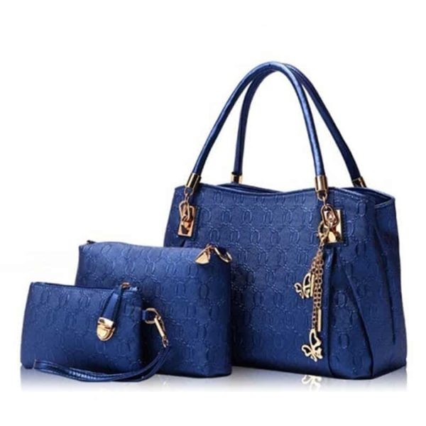 Casual Handbag 3 Pcs Set Leather 2