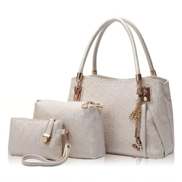 Casual Handbag 3 Pcs Set Leather 3