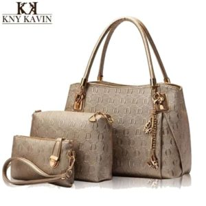 Casual Handbag 3 Pcs Set Leather