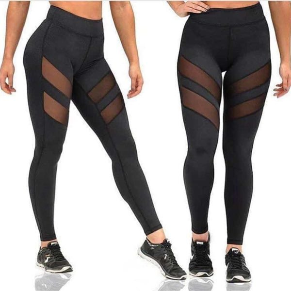 Mesh High Waist Workout Fitness Women Leggings 2