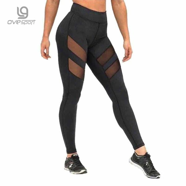 Mesh High Waist Workout Fitness Women Leggings