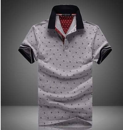 Men Polo Shirt gray