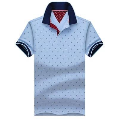 Men Polo Shirt light blue