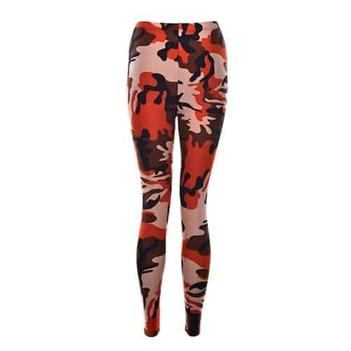Sexy Fashionable Women Camouflage Army Green Stretch Leggings 2