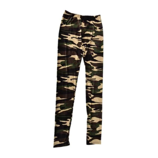 Sexy Fashionable Women Camouflage Army Green Stretch Leggings 5
