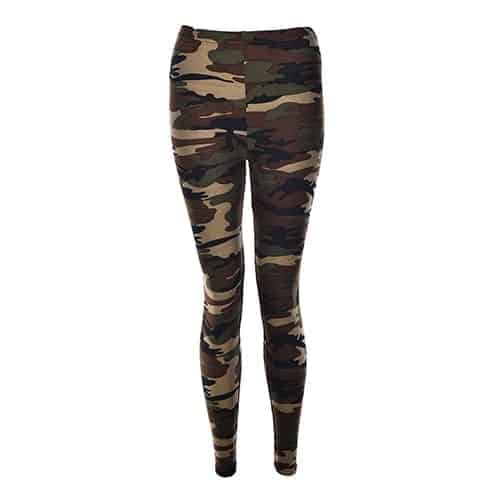 Sexy Fashionable Women Camouflage Army Green Stretch Leggings 1