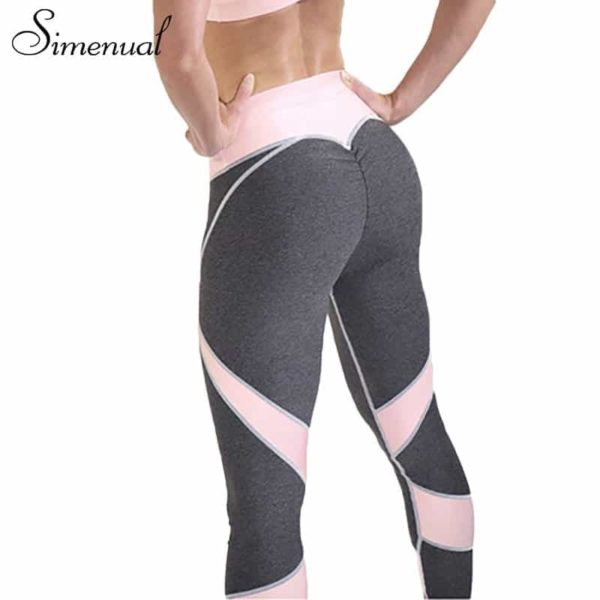patchwork heart hip sportswear bodybuilding slim leggings