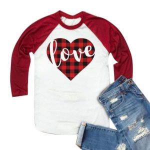 Always Love Heart Baseball T-Shirt