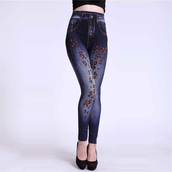 Autumn Jeans Slim Mock Pocket Women Leggings 1