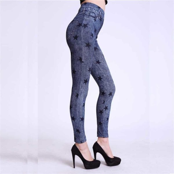Autumn Jeans Slim Mock Pocket Women Leggings 2