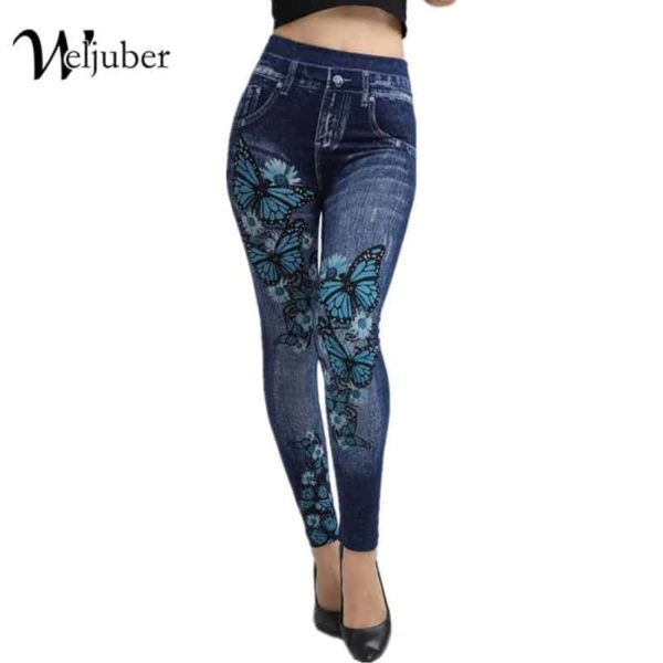 Autumn Jeans Slim Mock Pocket Women Leggings
