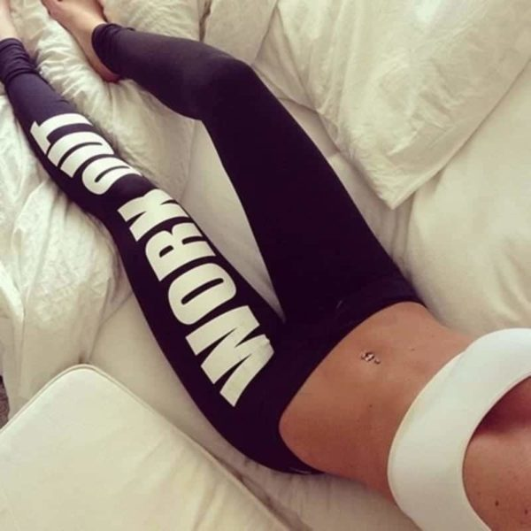 Women Bottoms Fitness Work Out Leggings Active  Printed 3