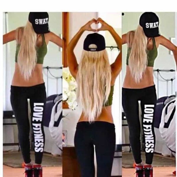 Women Bottoms Fitness Work Out Leggings Active Printed 6