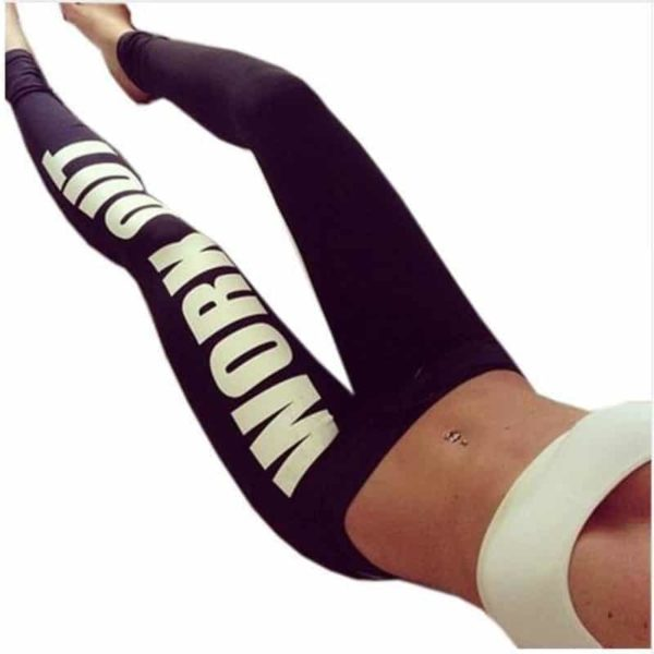 Women Bottoms Fitness Work Out Leggings Active  Printed 1