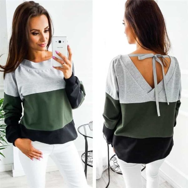 Women Sweatshirt Casual Long Sleeve Top 2
