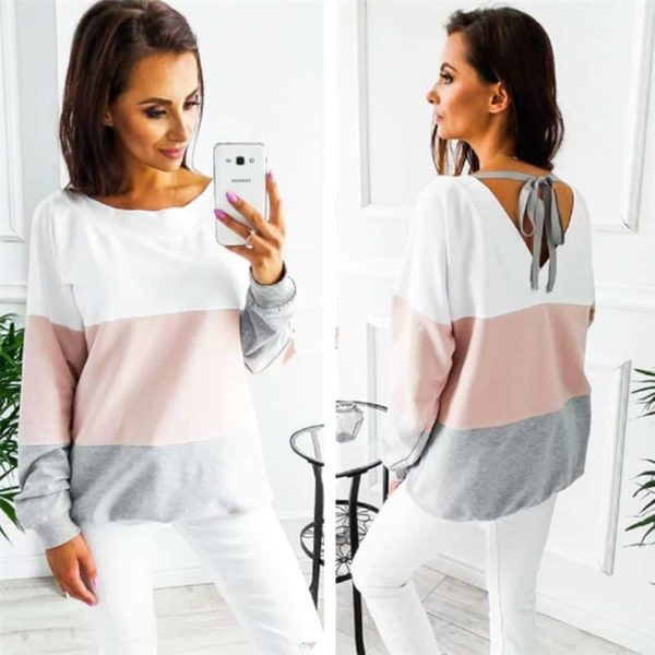 Women Sweatshirt Casual Long Sleeve Top 3