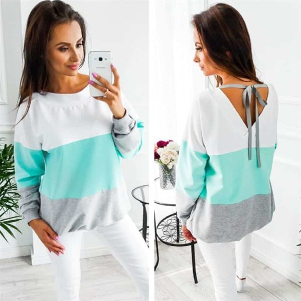 Women Sweatshirt Casual Long Sleeve Top 4