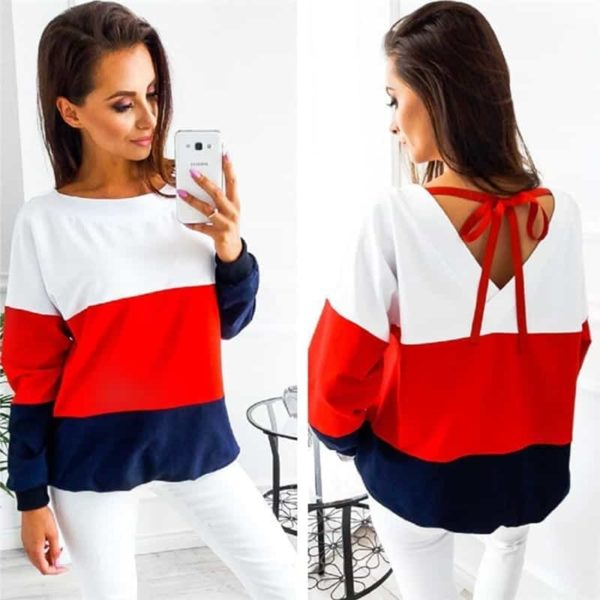 Women Sweatshirt Casual Long Sleeve Top 1