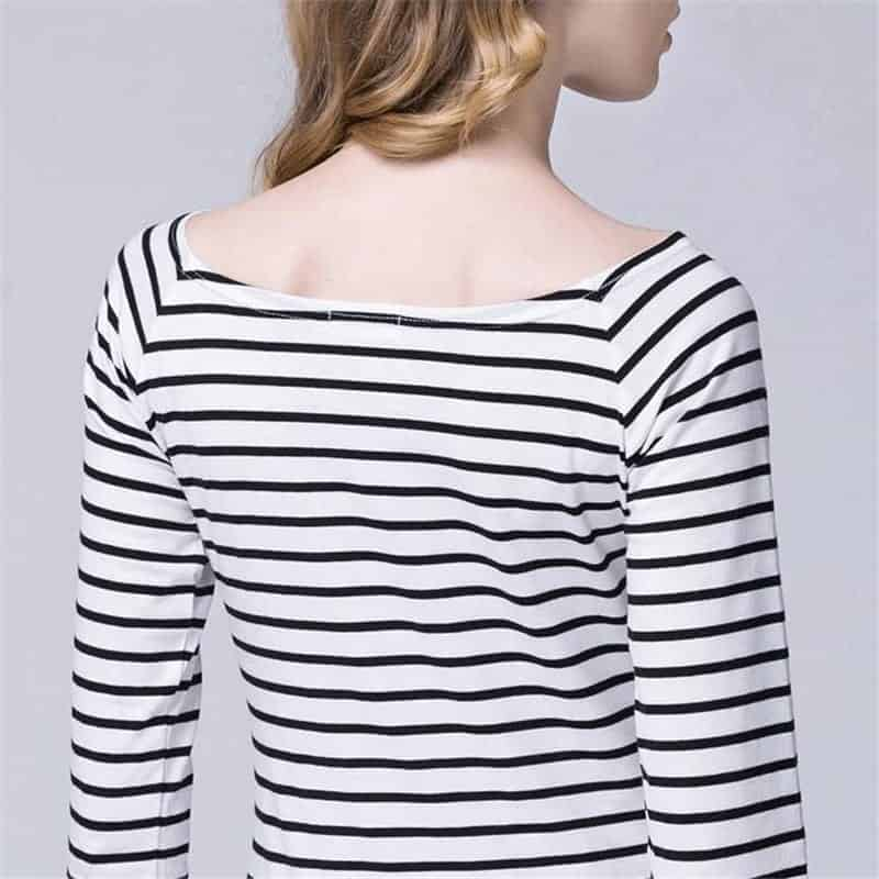Black White Striped Shirt Outfit With Long Sleeve Rhalyn 39 S