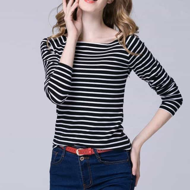 99e8d0144e38d Black and White Striped Shirt - Save 65% OFF