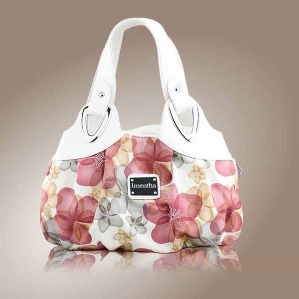 Flower Pattern Top-Handle Leather Bags for Women 3