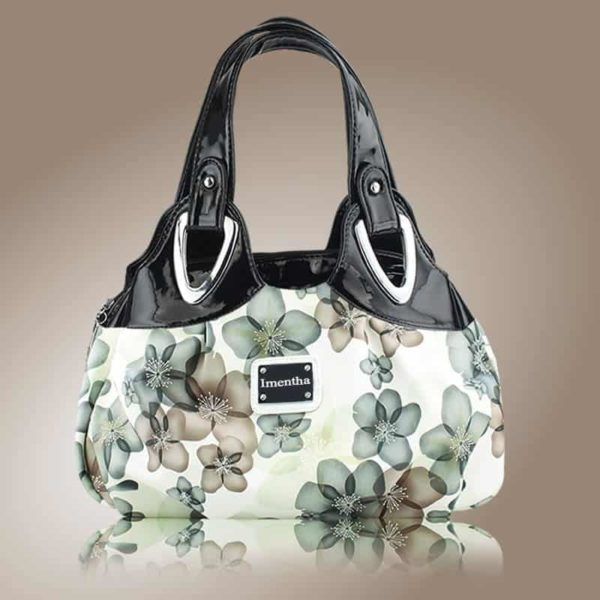 Flower Pattern Top-Handle Leather Bags for Women 4