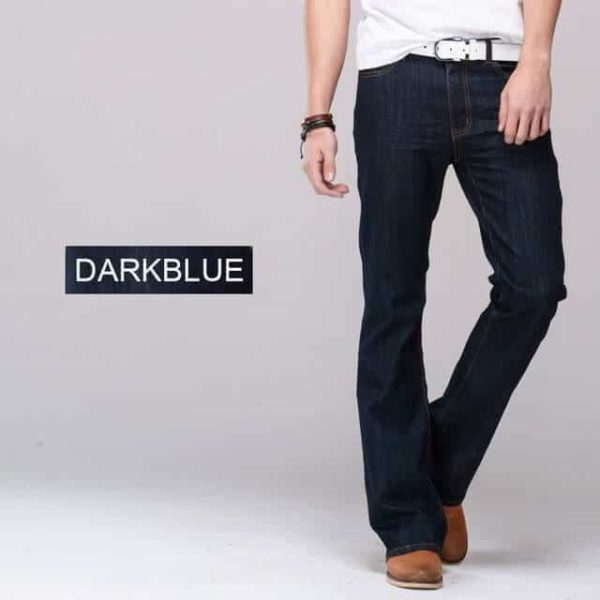 Men's Bootcut Jeans Dark Blue