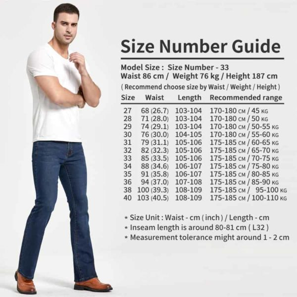 Mens Bootcut Jeans 1