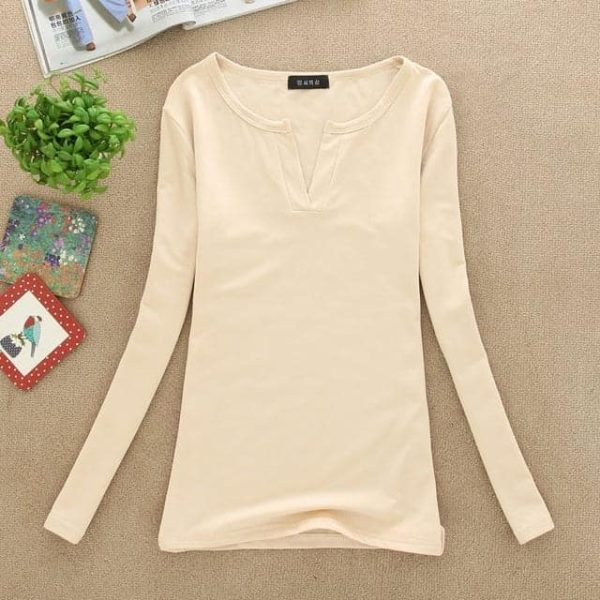 Sexy Slim Knitted Long Sleeve Chemise Tops