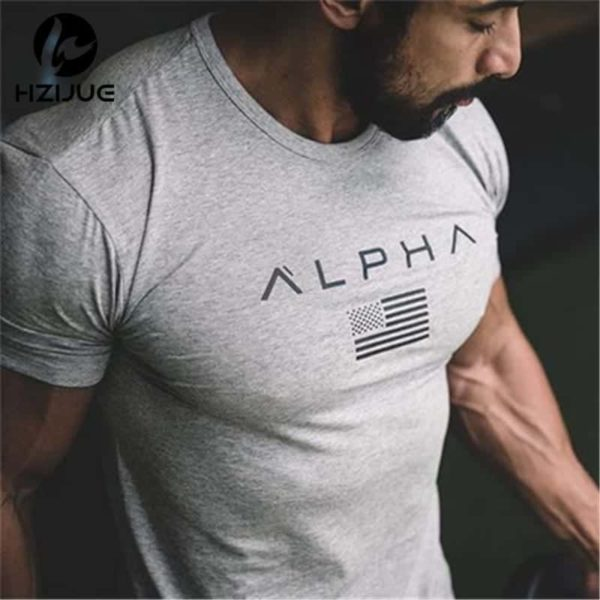 New Mens Brand Clothing Gyms Fitness Tight T-Shirt 1