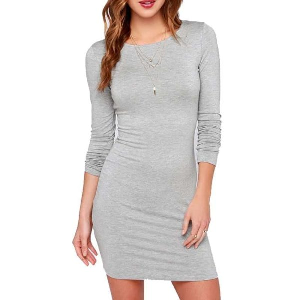 Sexy Casual Women Black Long Sleeve Dress 3