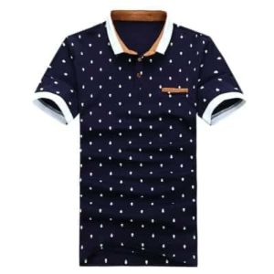 POLO Shirt Men Cotton Fashion Skull Dots