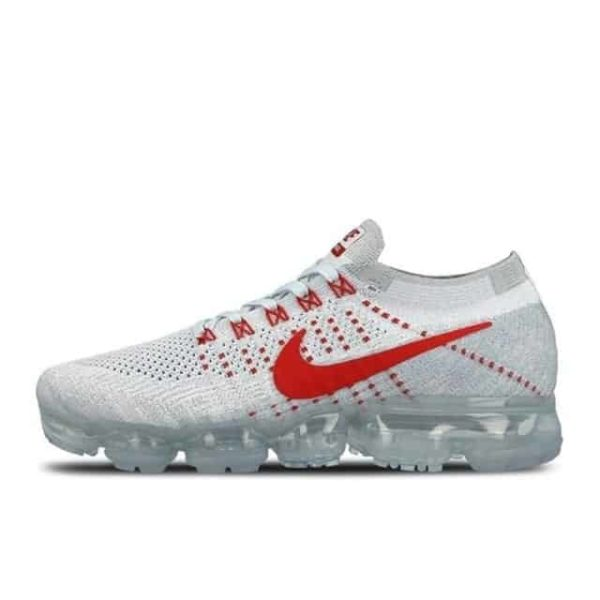 Original Nike Air VaporMax Breathable Running Shoes white red