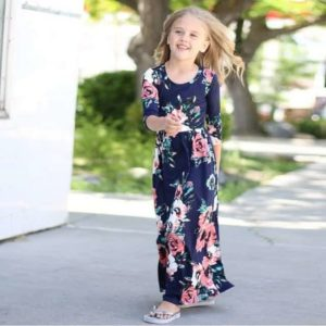 Floral Princess Party Long Sleeve Bohemian Dress